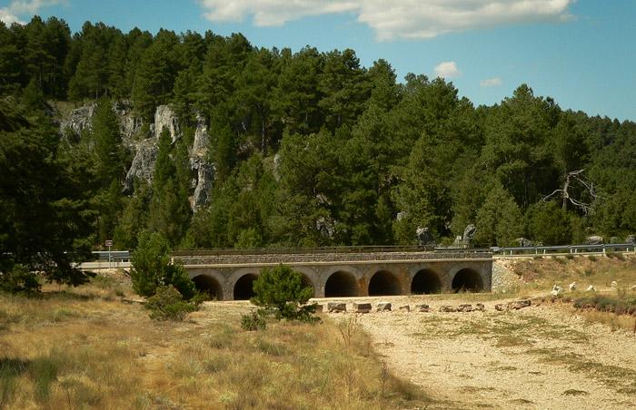 Cañón del Río Lobos. Puente de los Siete Ojos.